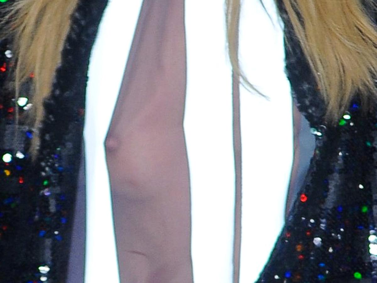 Candice Swanepoel Slips a Nipple at Sao Paulo Fashion Show