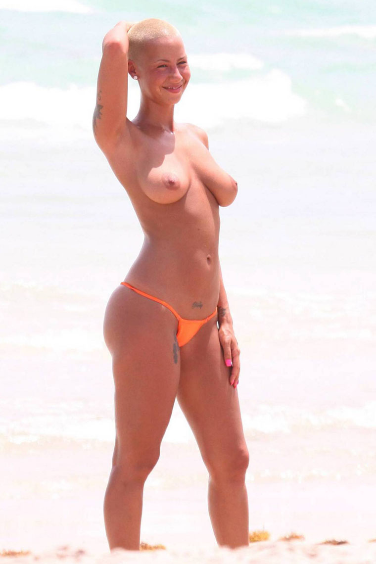 Amber Rose Sextaoe amber rose topless bikini | celebrity-slips