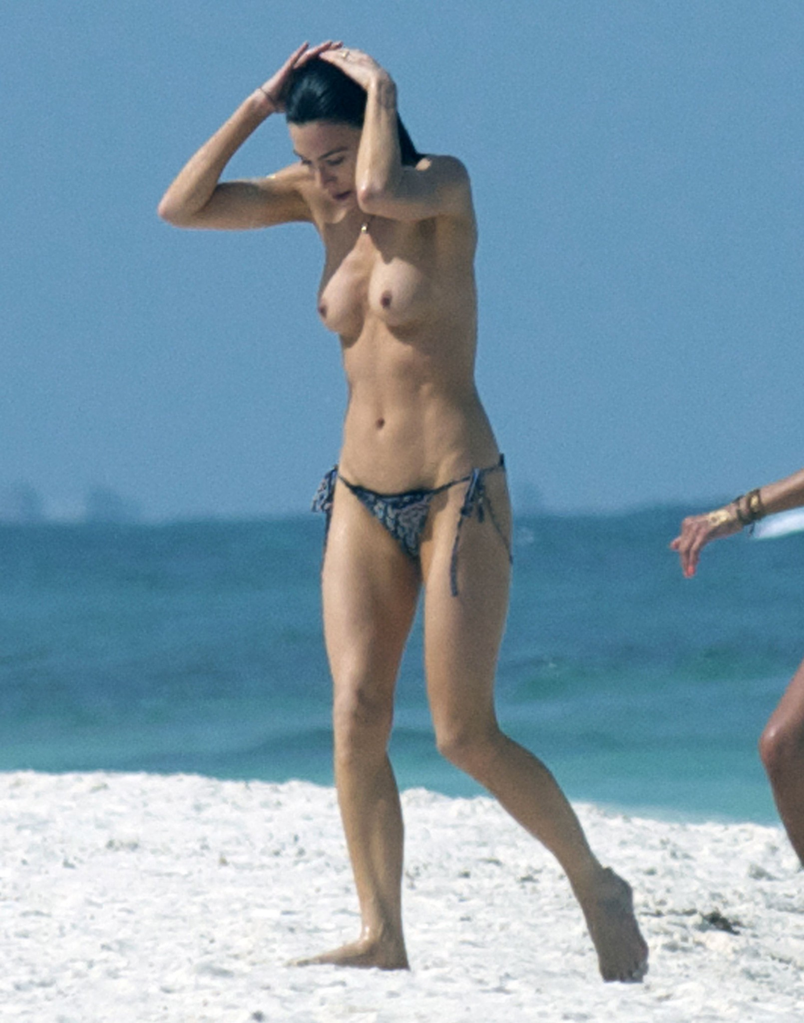 Jaime Murray Topless At A Beach In Mexico  Celebrity -8141