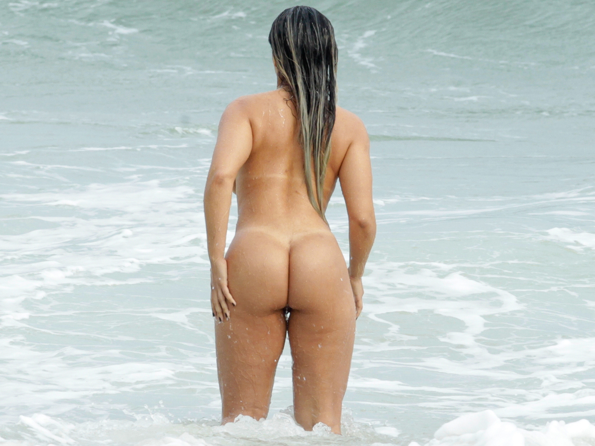 Hot naked brazilian beach busty