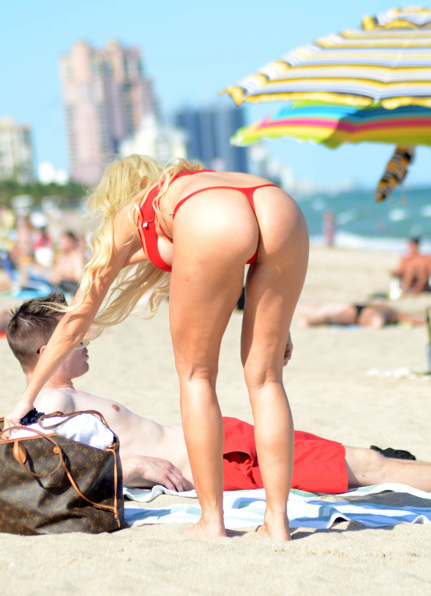 ana-braga-red-thong-bikini-at-a-beach-in-miami-7