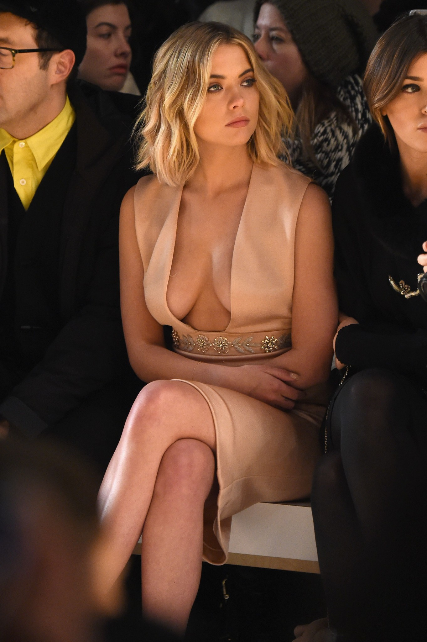 ashley-benson-cleavage-at-a-fashion-show-4