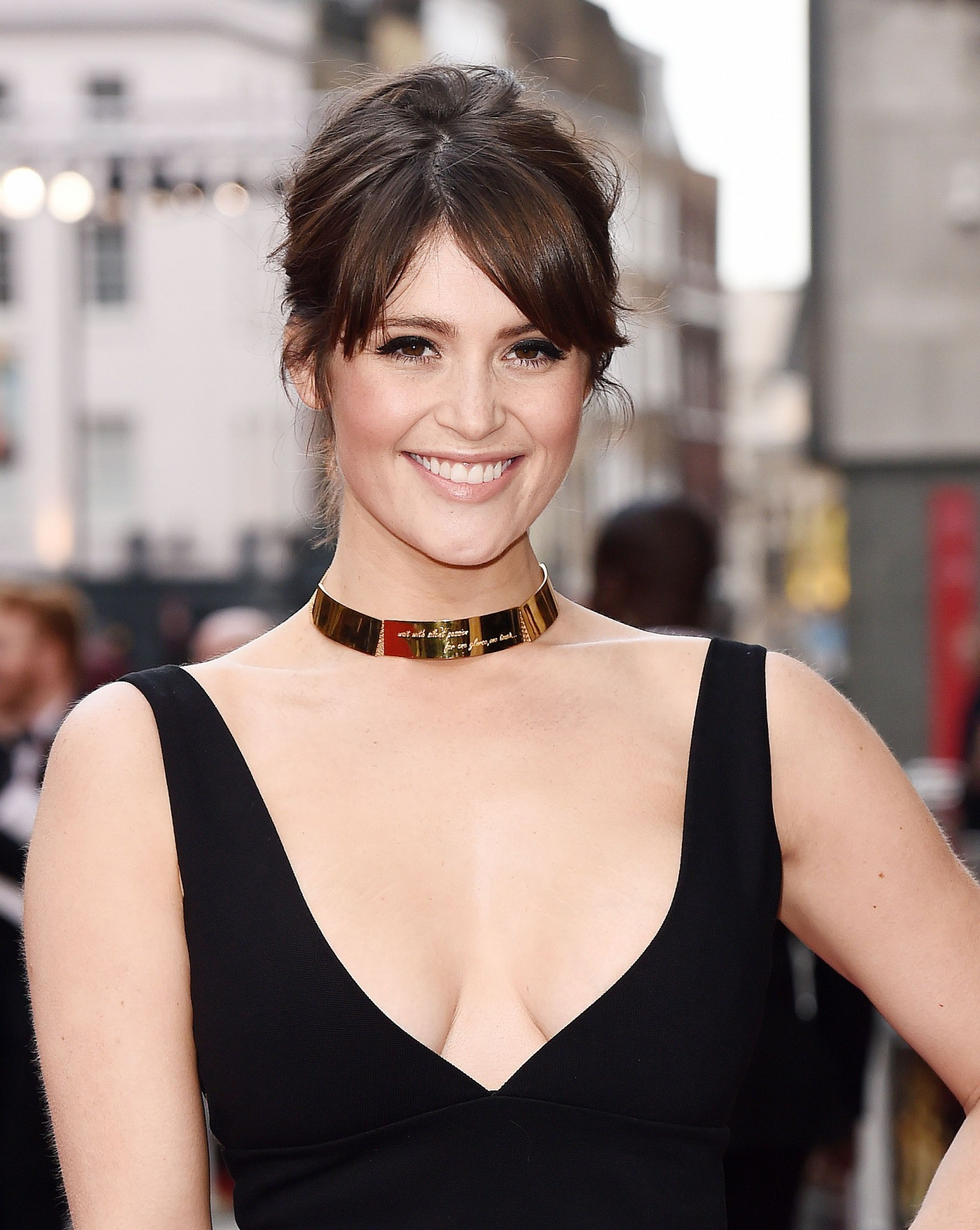 gemma-arterton-cleavage-at-the-olivier-awards-in-london-2