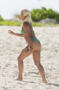 lady-gaga-green-thong-bikini-in-bahamas-4