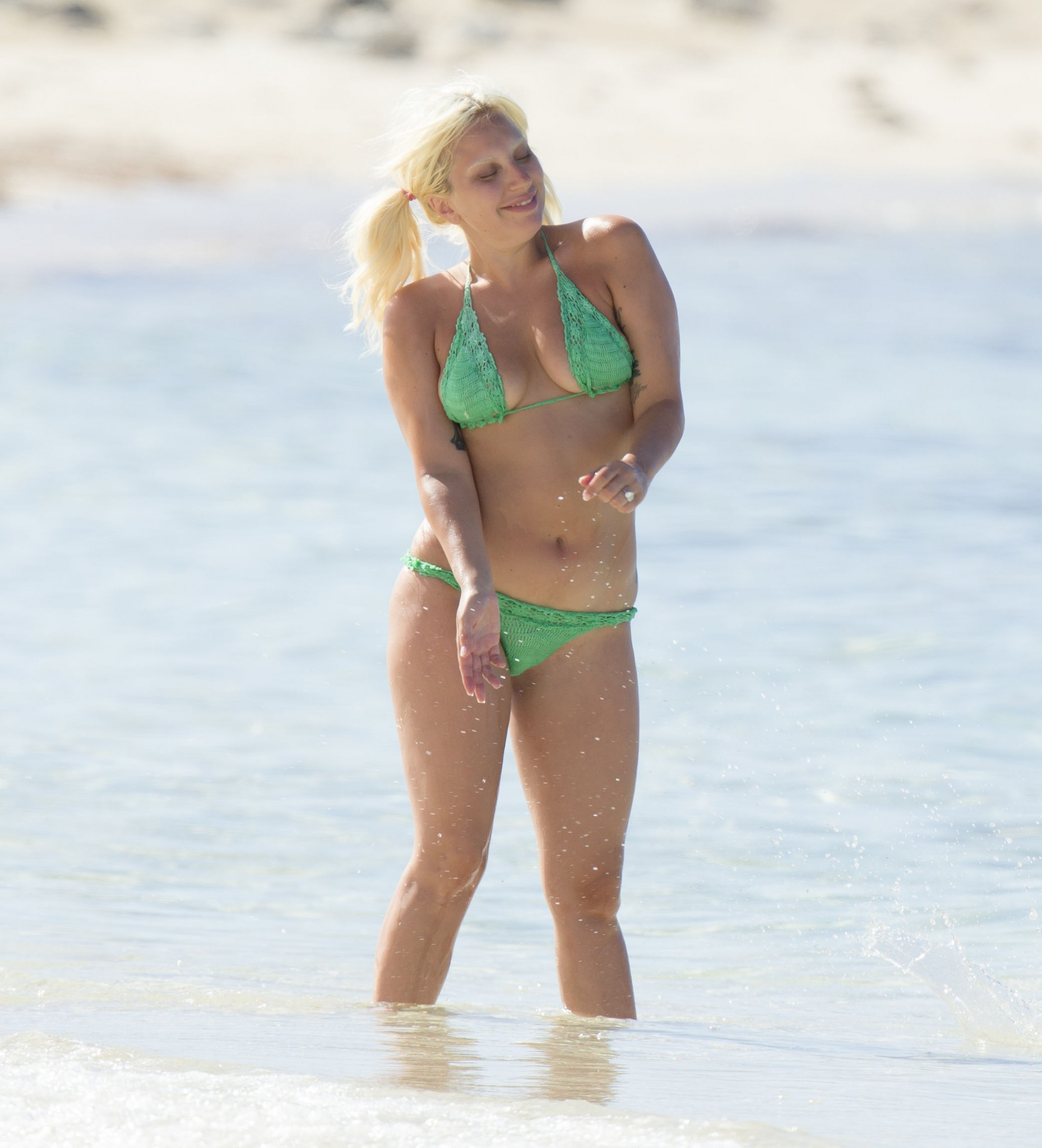 lady-gaga-green-thong-bikini-in-bahamas-9
