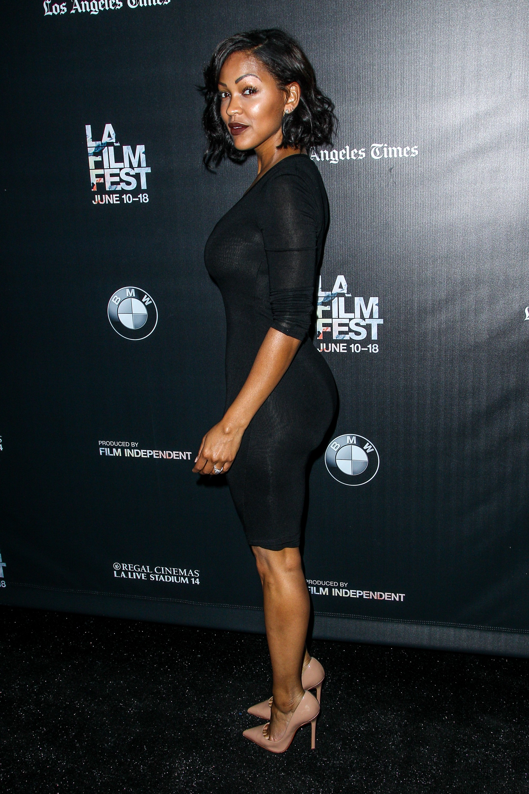 Meagan Good Nipples Shows At GQ Men of The Year Party in