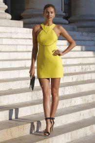 Irina Shayk attends the Versace show