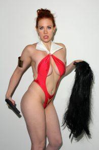 maitland-ward-nip-slip-red-thong-costume-long-beach-comic-con-15