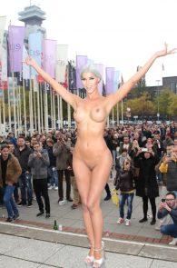 micaela-schaefer-nude-at-venus-2015-exhibition-opening-in-berlin-4