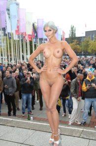 micaela-schaefer-nude-at-venus-2015-exhibition-opening-in-berlin-5