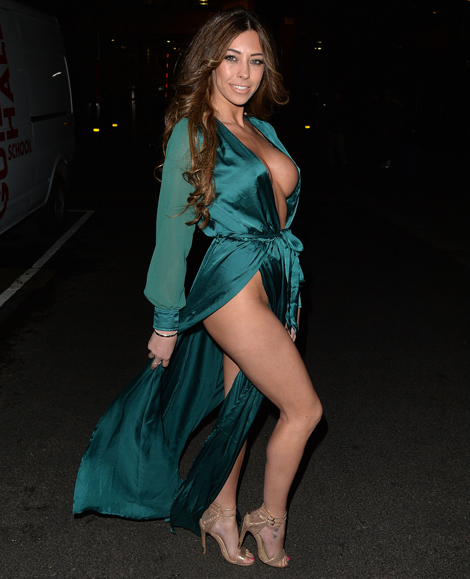 Charlotte Dawson Nip Slip And Pantyless Upskirt In Manchester