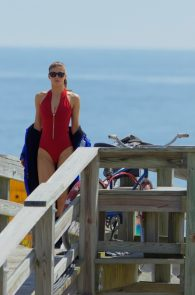 alexandra-daddario-red-bikini-on-set-of-baywatch-in-tybee-05
