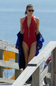 alexandra-daddario-red-bikini-on-set-of-baywatch-in-tybee-06