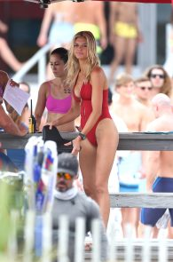 kelly-rohrbach-red-swimsuit-on-set-of-baywatch-07