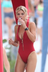 kelly-rohrbach-red-swimsuit-on-set-of-baywatch-09