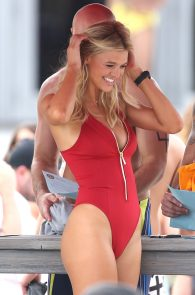 kelly-rohrbach-red-swimsuit-on-set-of-baywatch-13