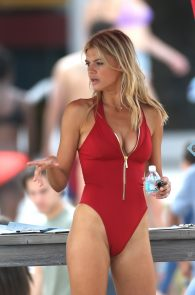 kelly-rohrbach-red-swimsuit-on-set-of-baywatch-14