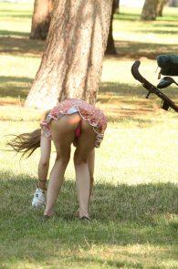 alicia-arden-ass-flash-pink-thong-panties-upskirt-golf-swing-13