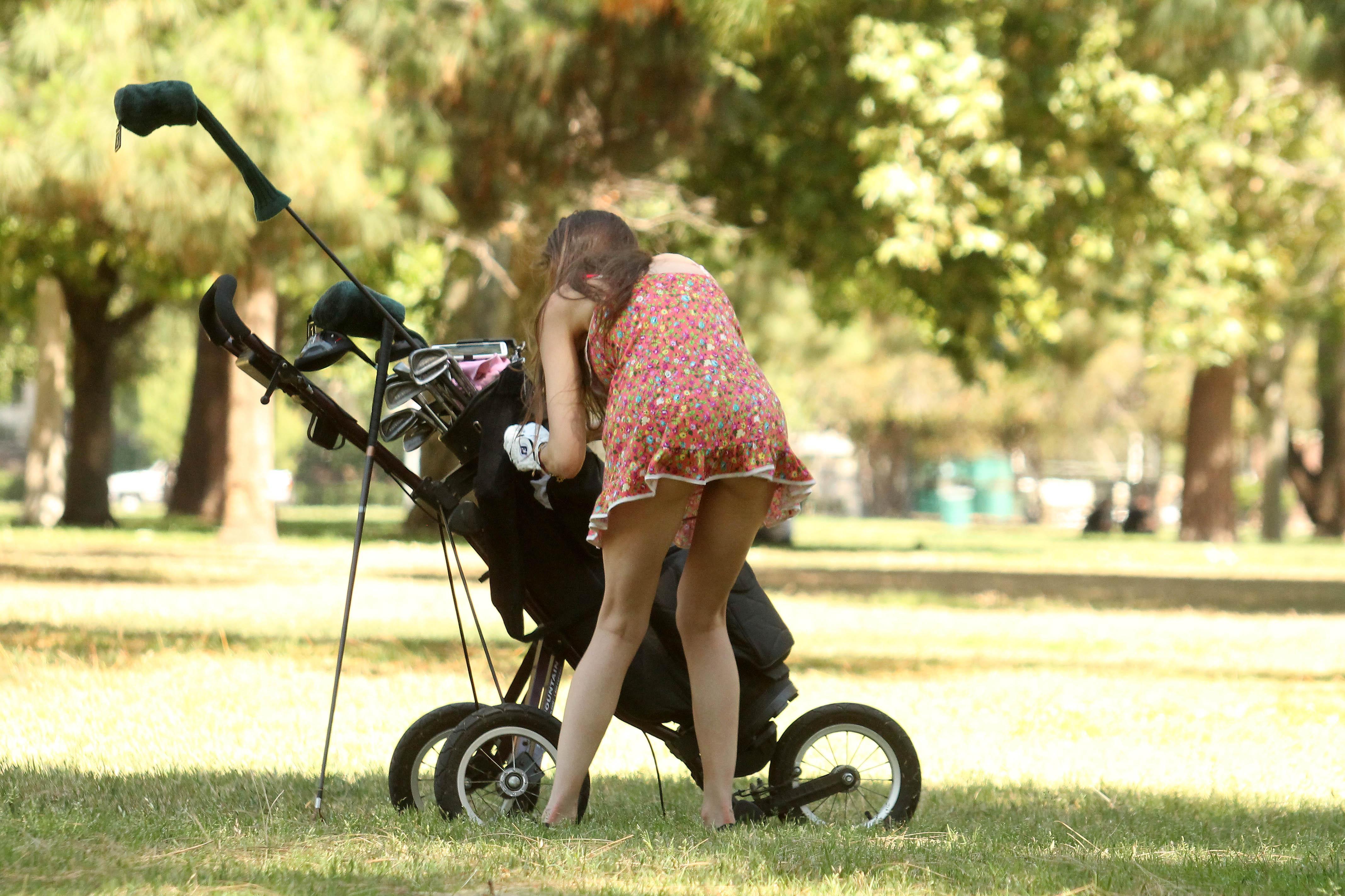 alicia-arden-ass-flash-pink-thong-panties-upskirt-golf-swing-22