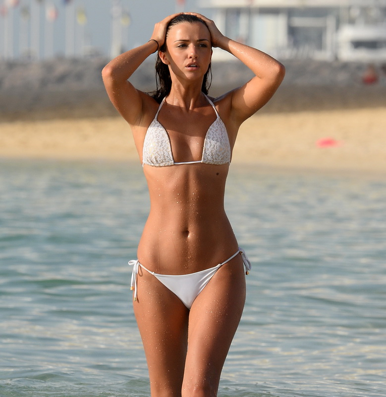 lucy-mecklenburgh-insanely-hot-in-white-bikini-in-dubai-14