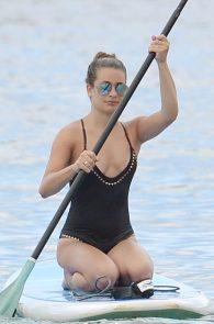 lea-michele-wearing-a-black-swimsuit-in-maui-17