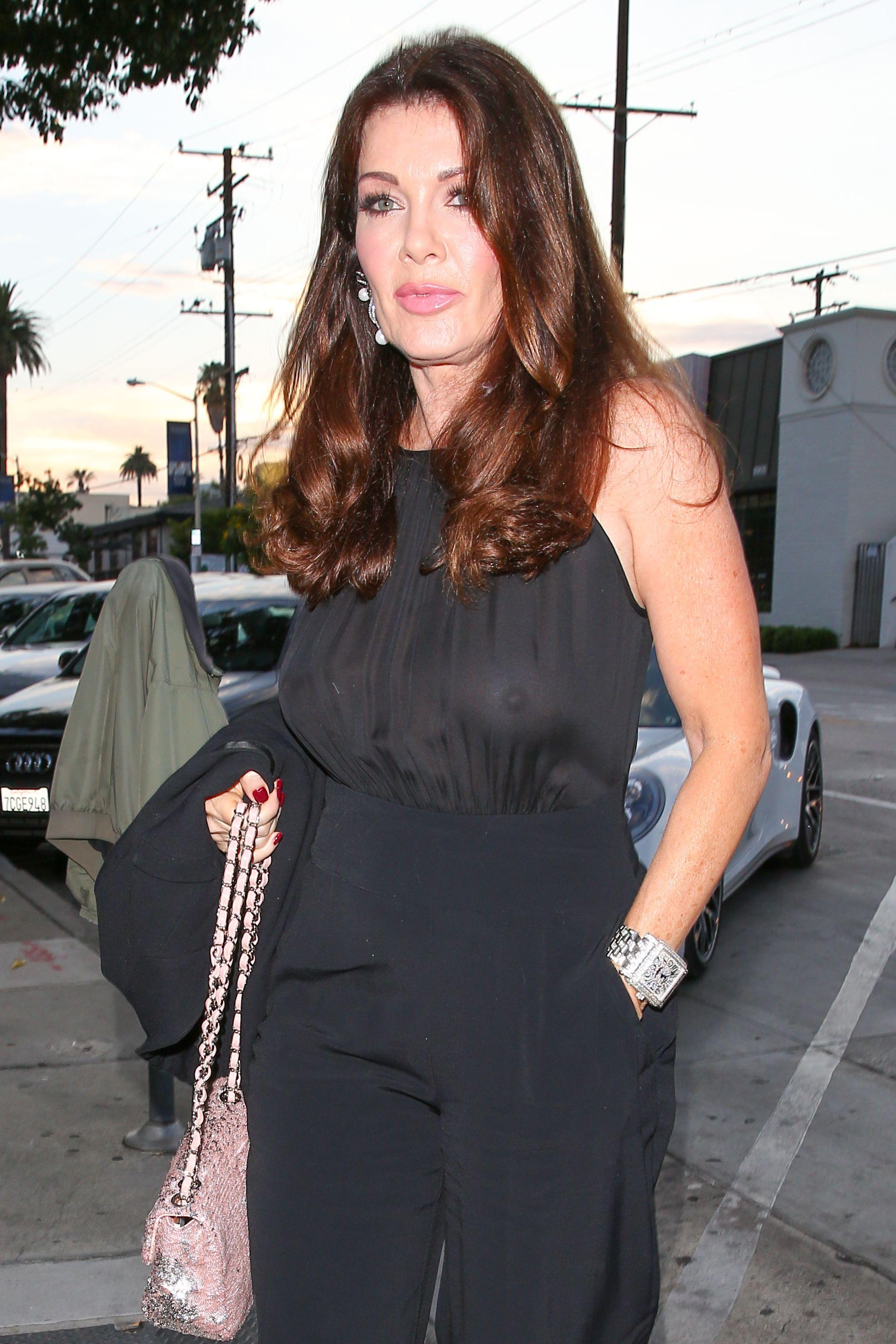 Lisa-Vanderpump-Braless-See-Through-Top-At-Craigs-10  Celebrity-Slipscom-9183