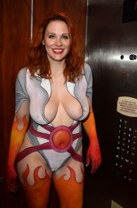 maitland-ward-fully-nude-bodypaint-at-comic-con-12