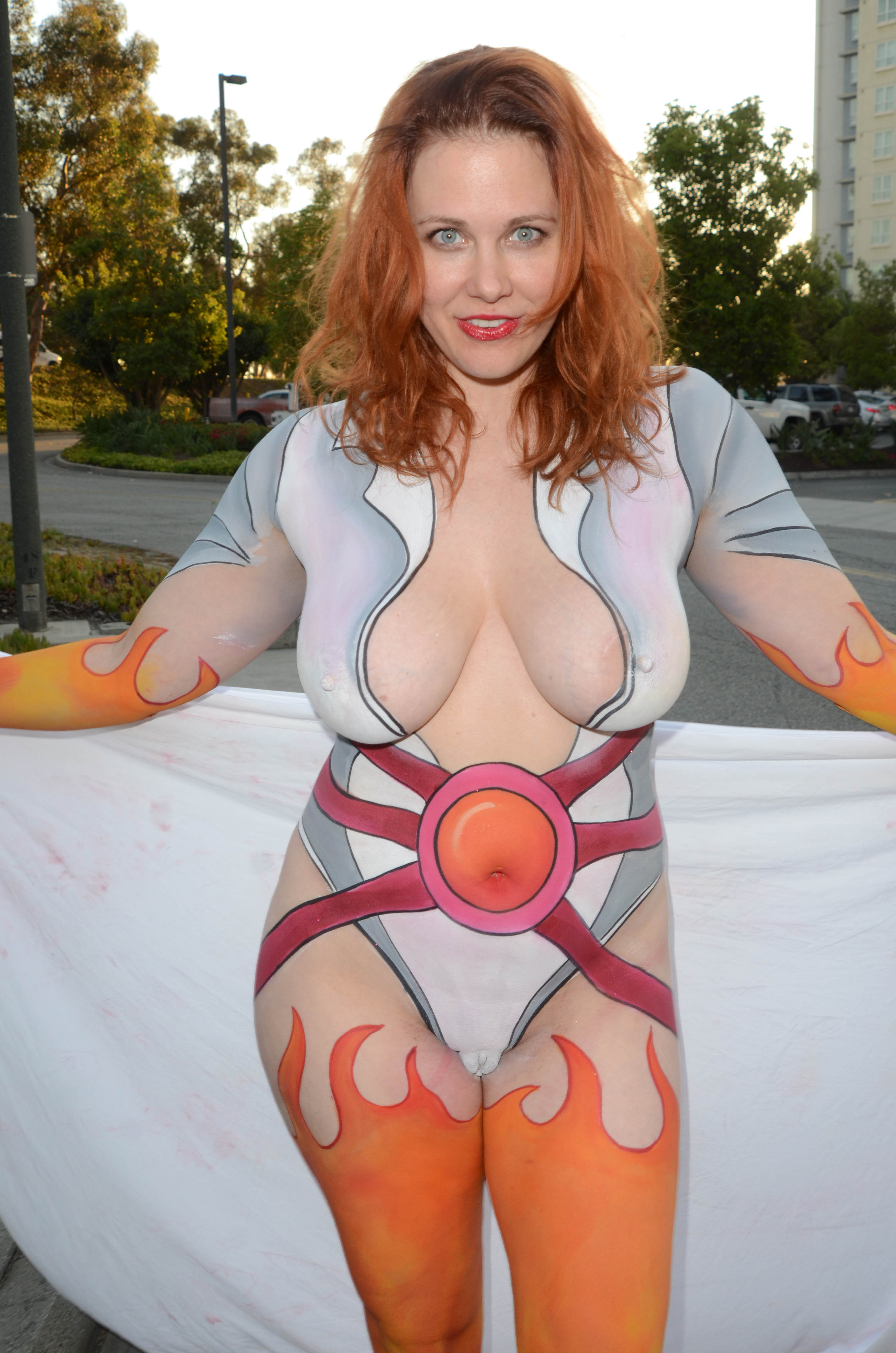 body paint nude