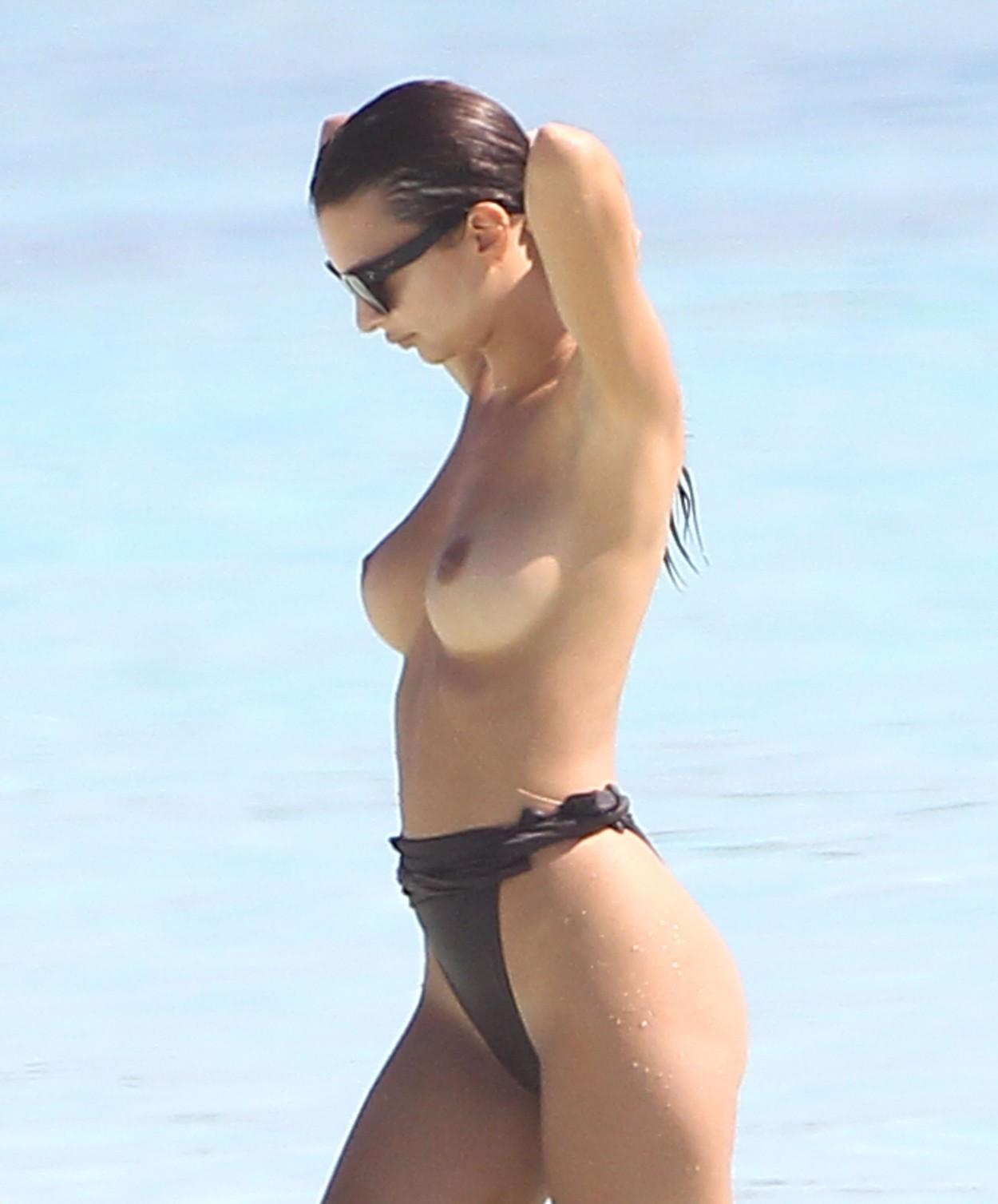 beach Emily ratajkowski topless
