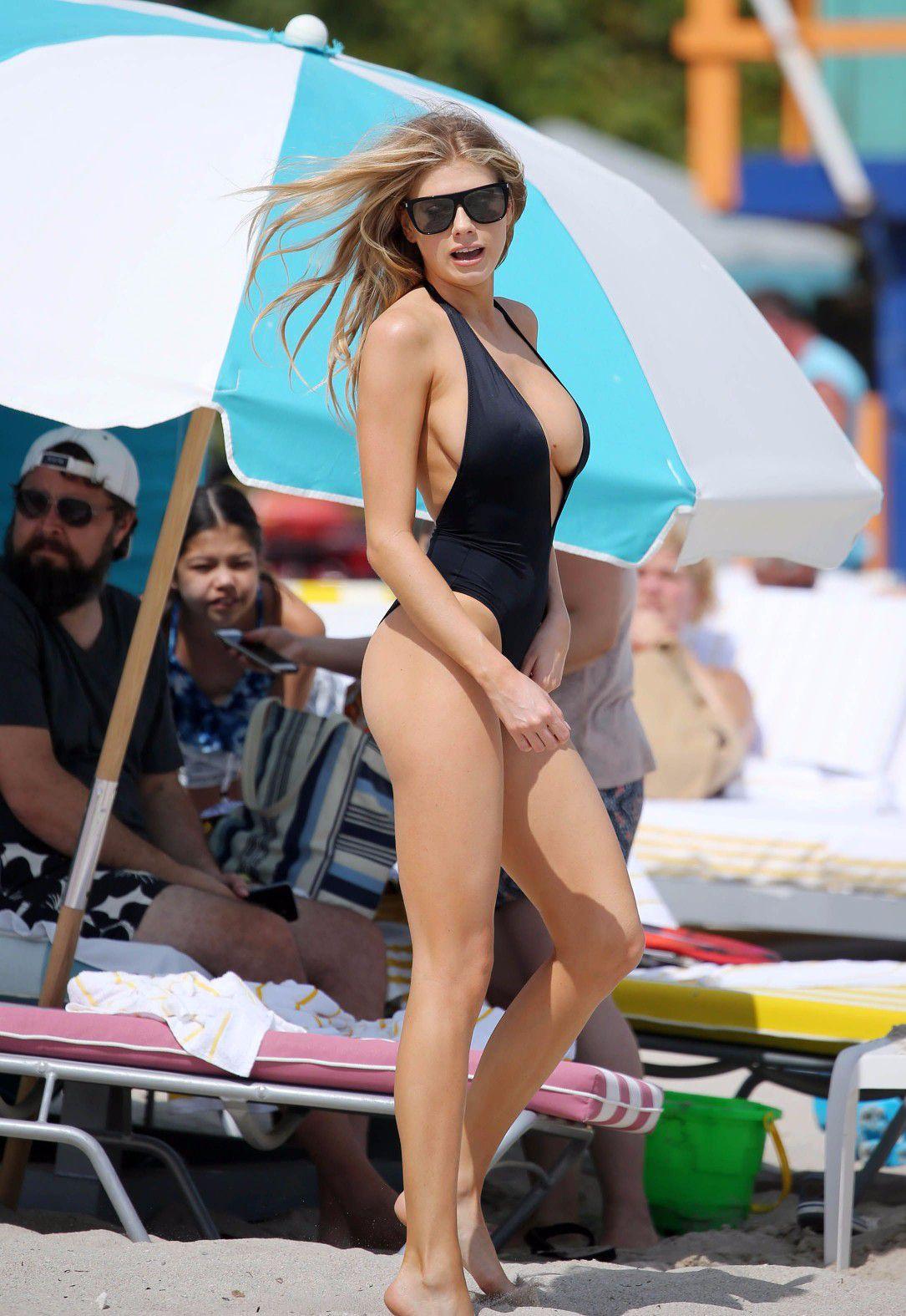 charlotte-mckinney-nipple-slip-at-the-beach-in-miami-08