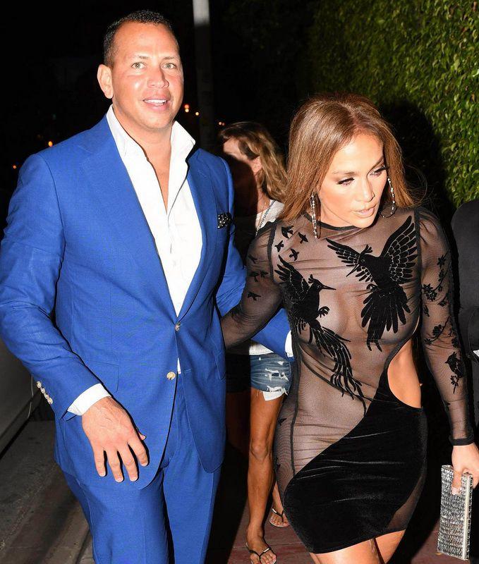 Jennifer Lopez Nip Slip In See-Thru Dress While Out In Miami