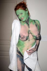 Nude body paint cosplay