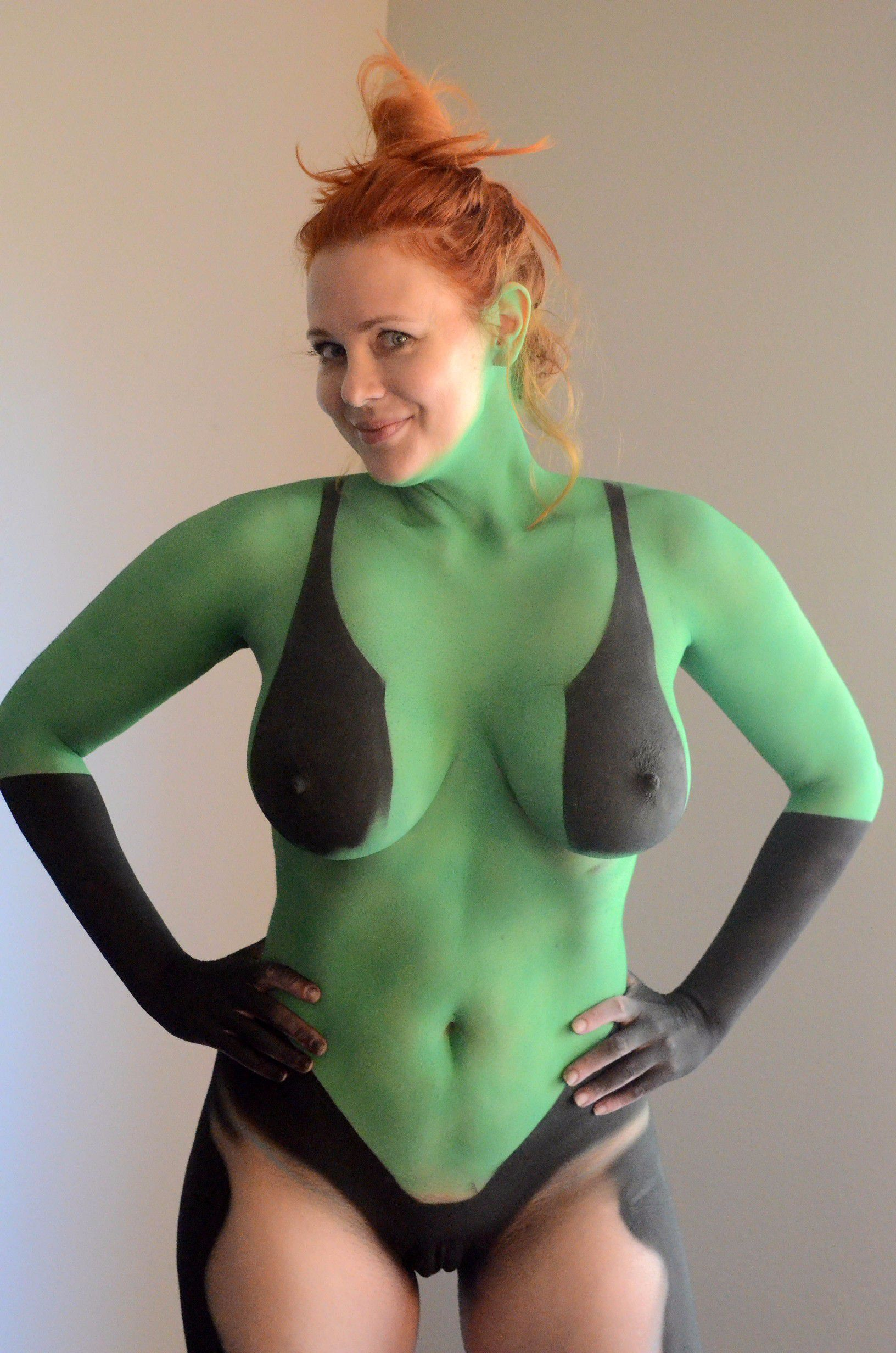 Think, that fully naked body painting assured, that