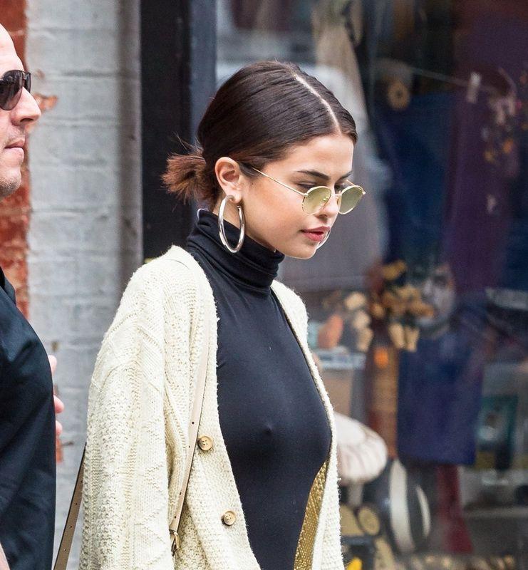 Selena gomez upskirt downblouse