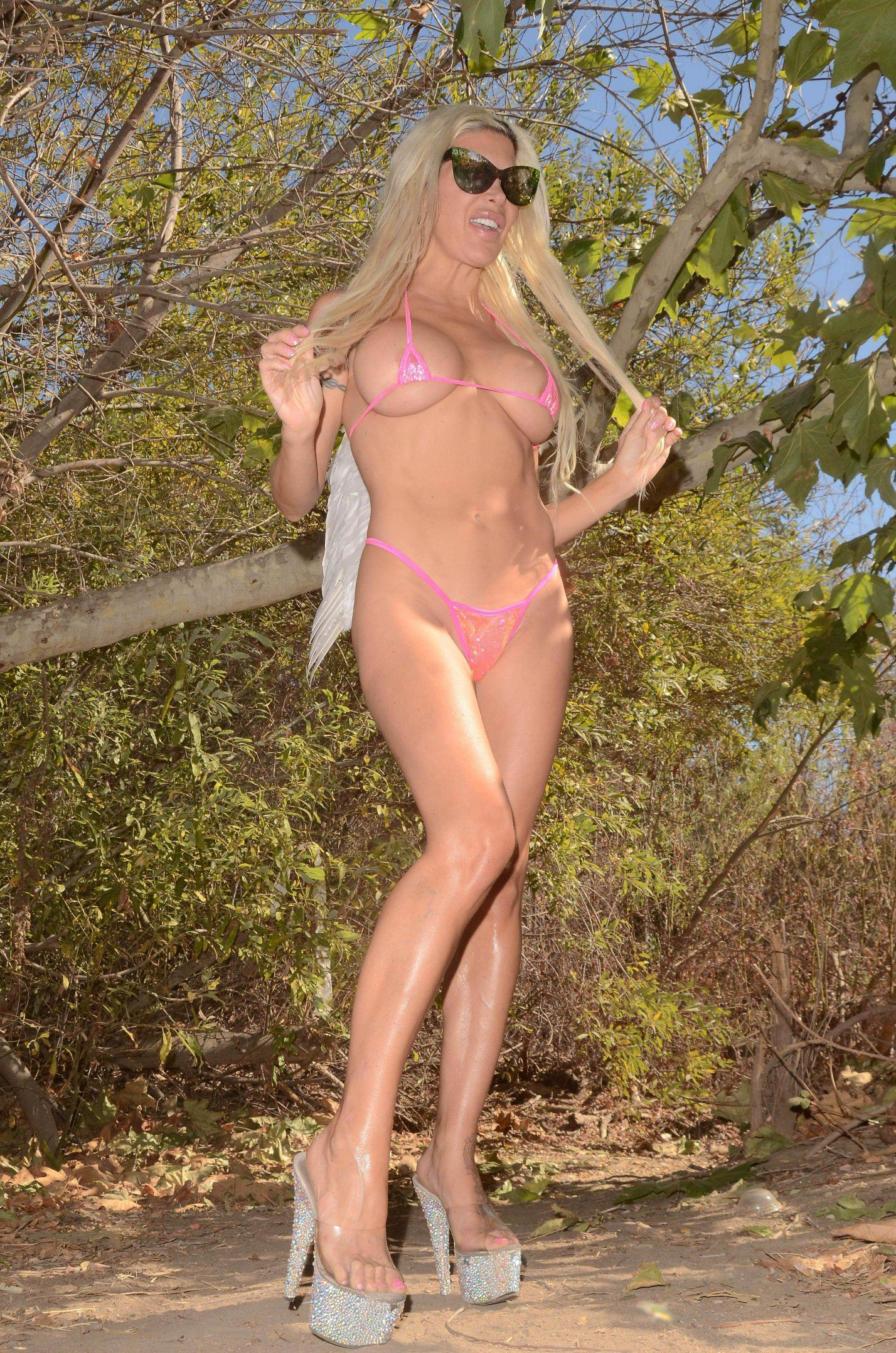 Angelique Frenchy Morgan Naked angelique-frenchy-morgan-almost-naked-for-halloween-in