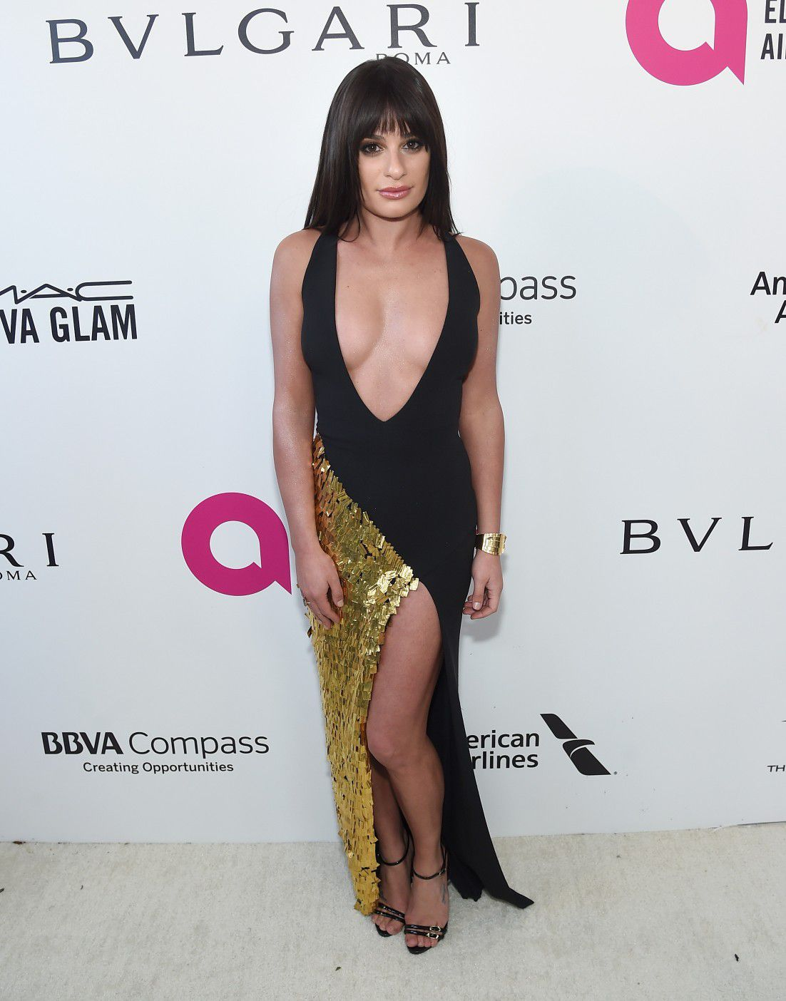 lea-michele-nip-slip-and-cleavage-at-elton-johns-aids-foundation-oscars-viewing-party-8552