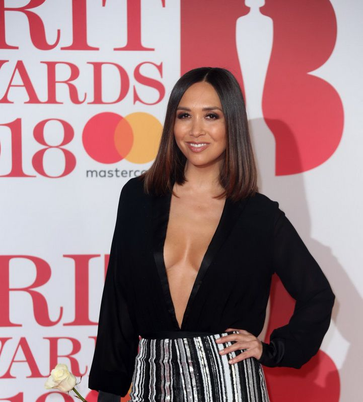 myleene-klass-deep-cleavage-at-2018-brit-awards-in-london-01
