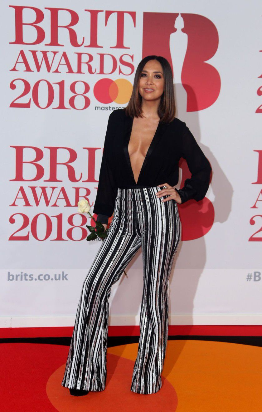 myleene-klass-deep-cleavage-at-2018-brit-awards-in-london-2643
