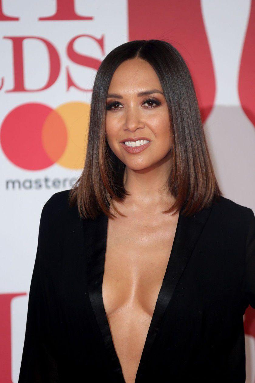 myleene-klass-deep-cleavage-at-2018-brit-awards-in-london-4791