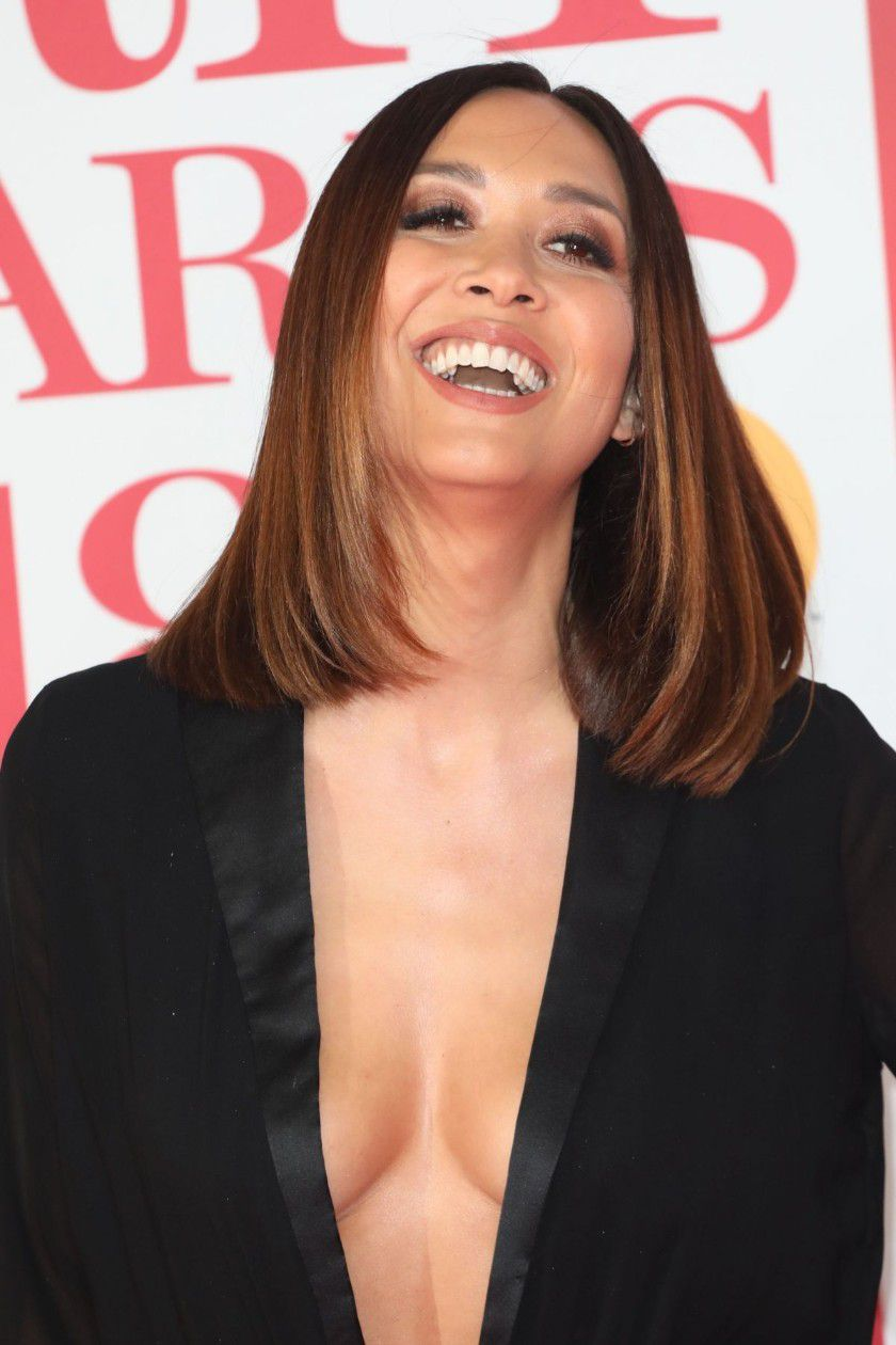myleene-klass-deep-cleavage-at-2018-brit-awards-in-london-6846