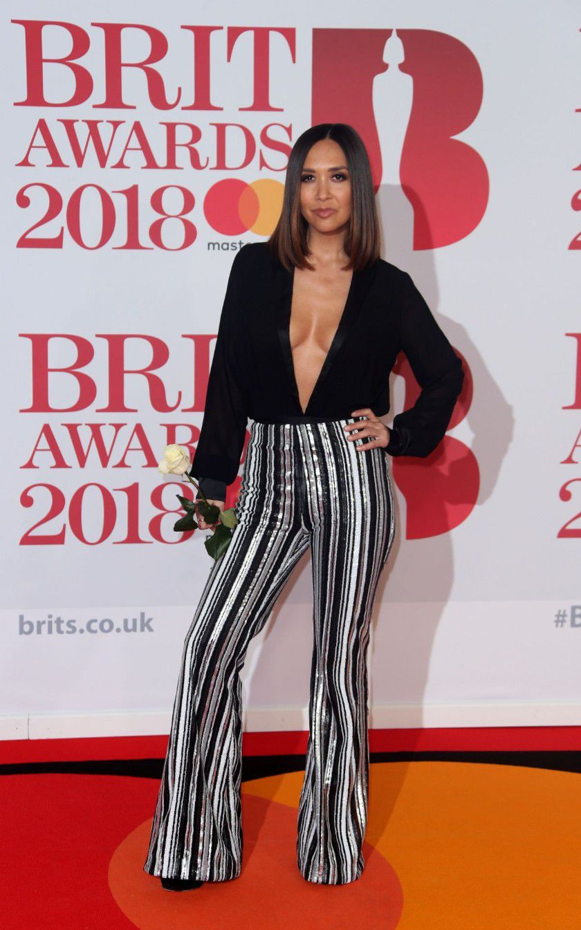 myleene-klass-deep-cleavage-at-2018-brit-awards-in-london-6854