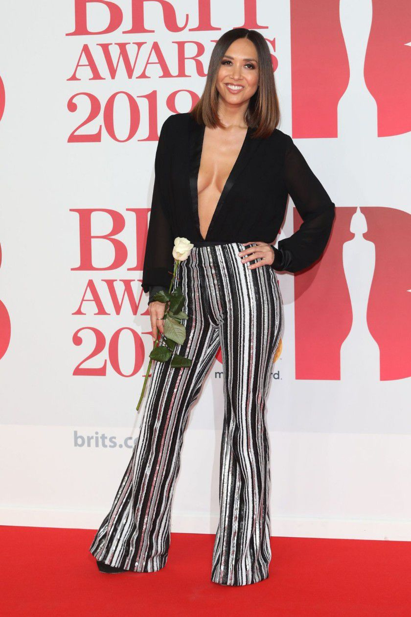 myleene-klass-deep-cleavage-at-2018-brit-awards-in-london-7422