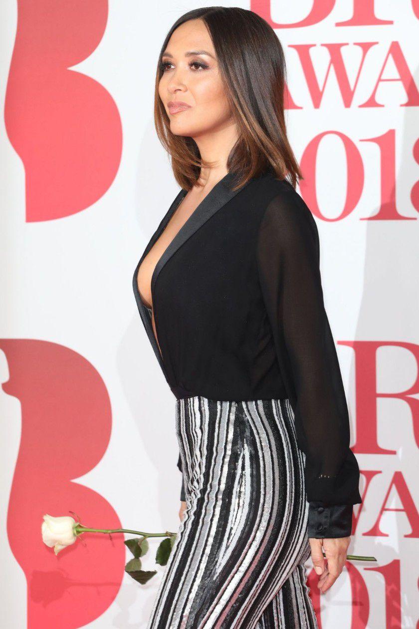 myleene-klass-deep-cleavage-at-2018-brit-awards-in-london-9071