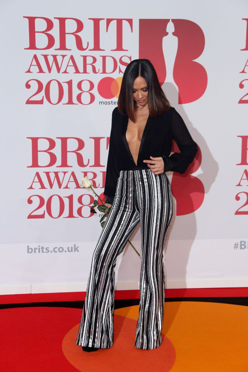 myleene-klass-deep-cleavage-at-2018-brit-awards-in-london-9174