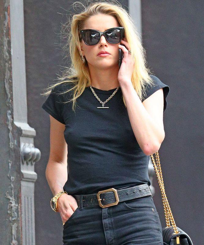 Zoe Kravitz Vs Amber Heard: Amber Heard Hard Nipples While Out In NY