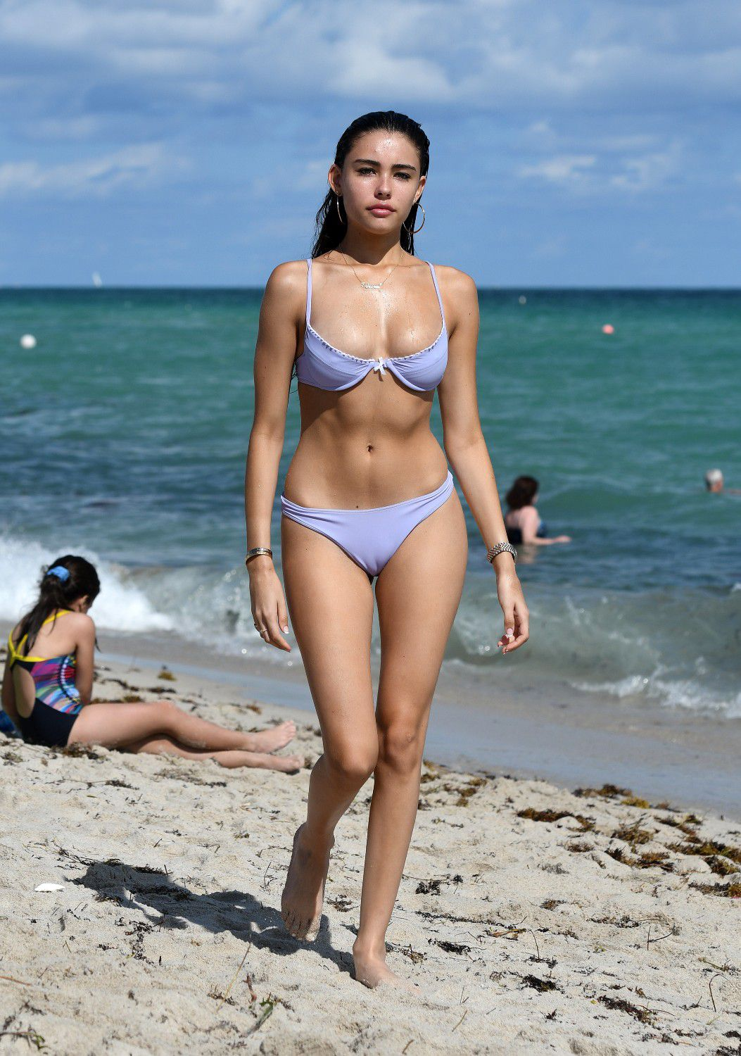 Camel toes on the beach